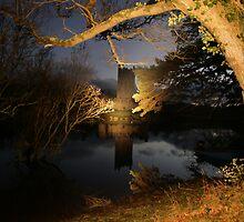 Ross Castle at night by John Quinn
