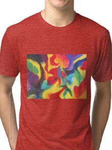 """""""Touch of Madness"""" original abstract artwork by Laura Tozer Tri-blend T-Shirt"""