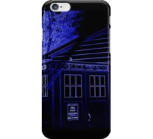 Neon Blue T.A.R.D.I.S. iPhone Case/Skin