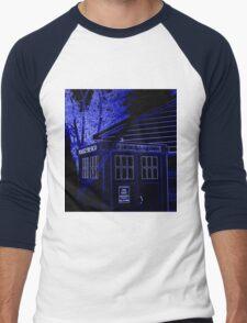 Neon Blue T.A.R.D.I.S. Men's Baseball ¾ T-Shirt