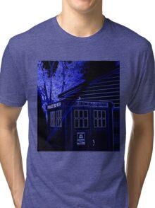 Neon Blue T.A.R.D.I.S. Tri-blend T-Shirt