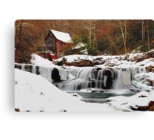 Frozen Grist Mill Canvas Print