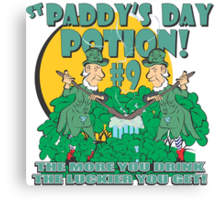 St Paddy's Day Potion #9 Canvas Print