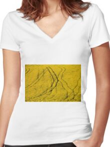 yellow fields Women's Fitted V-Neck T-Shirt