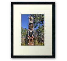 Totem Pole 1 Framed Print