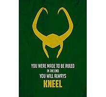 Loki of Asgard Photographic Print