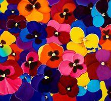 Blanket of Pansies by QiQiGallery