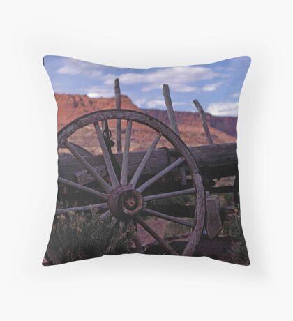 Wagon Train Throw Pillow