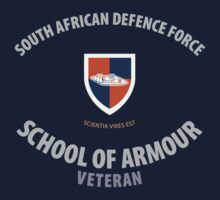 SADF School of Armour Veteran Shirt by civvies4vets