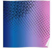 Violet ombre crosshatching  Poster