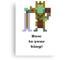 Wraith King - Bow to your king! Canvas Print