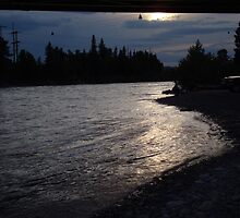 Sunset over the bow river at cochrane alberta June 2008 by jacbis