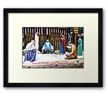 UNTO US A CHILD IS BORN... Framed Print