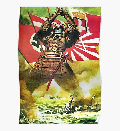 Japanese Propaganda Poster : WW2 World War 2 : WWII  Poster