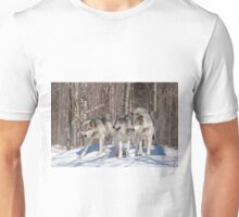 Timber wolves in winter Unisex T-Shirt