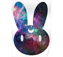 Galaxy Bunny (White Version) Poster