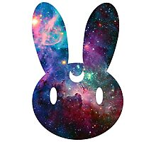 Galaxy Bunny (White Version) Photographic Print