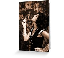 Lipstick Stains On Her Cigarette Greeting Card