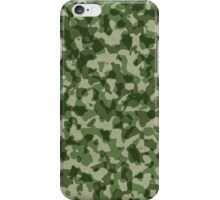 Green Camouflage Pattern iPhone Case/Skin