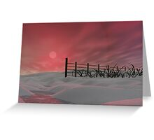 Sandy Lips Beach Greeting Card