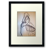 CLOTHED FIGURE DRAWING 3 Framed Print