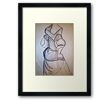 CLOTHED FIGURE DRAWING 4 Framed Print