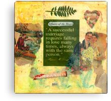 """""""A Successful Marriage"""" Collage  Metal Print"""