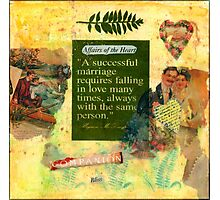 """A Successful Marriage"" Collage  Photographic Print"