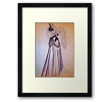 CLOTHED FIGURE DRWING 9 Framed Print