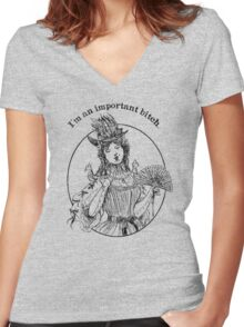 I'm An Important B*tch Women's Fitted V-Neck T-Shirt