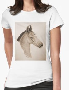 """Precious Little One"" - Sepia Womens Fitted T-Shirt"