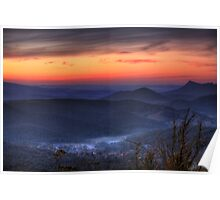 Marysville Autumn Sunset from Keppels Lookout Poster