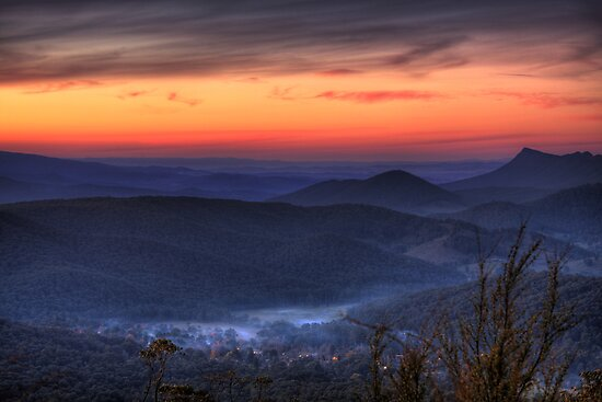 Marysville Autumn Sunset from Keppels Lookout by Vicki Moritz