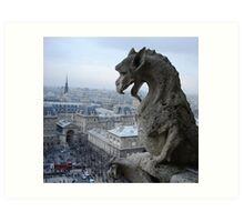 Guarding Gargoyle Art Print