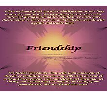 Friendship Photographic Print