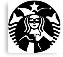 Quinn Coffee (Black) Canvas Print