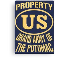 Property Grand Army of The Potomac Gold Canvas Print