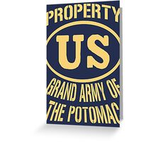 Property Grand Army of The Potomac Gold Greeting Card