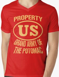 Property Grand Army of The Potomac Gold Mens V-Neck T-Shirt