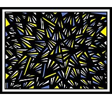 Quale Abstract Expression Yellow Blue Black Photographic Print