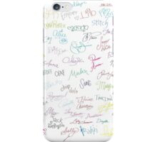 Disney Autographs iPhone Case/Skin