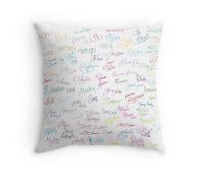 Disney Autographs Throw Pillow