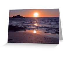 Safety Bay Sunset Greeting Card
