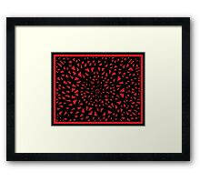 Shock Abstract Expression Red Black Framed Print