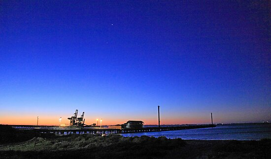 Dock At Dusk by EOS20