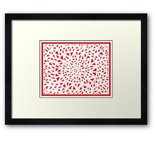 Melbert Abstract Expression Red White Framed Print