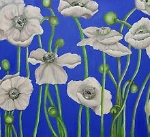 Acrylic Poppies by Jacqui Coote