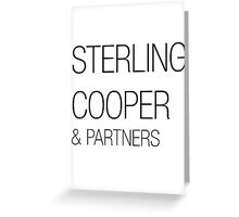 Sterling Cooper & Partners Mad Men Greeting Card