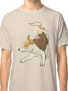 Heeler pub dog chasing tail Classic T-Shirt