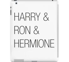 Harry & Ron & Hermione iPad Case/Skin